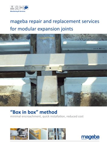 mageba repair and replacement services for modular expansion joints