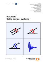 Cable damper systems