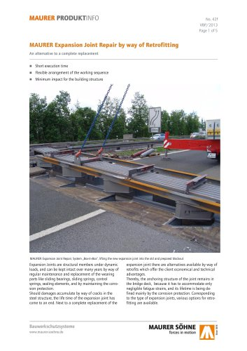 Expansion Joint Repair by way of Retrofitting