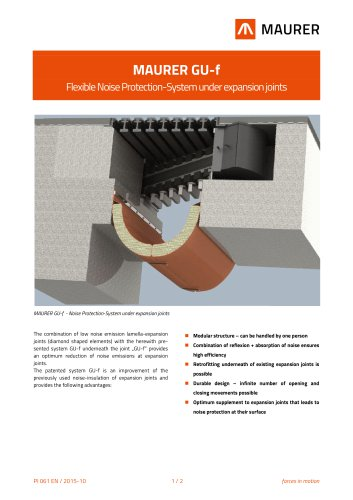 MAURER GU-f - Flexible Noise Protection-System under expansion joints