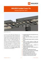 MAURER Guided Cross-Tie - Railway Expansion Joint