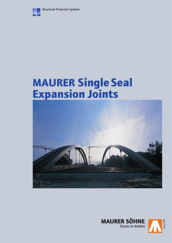 Maurer Single Seal Expansion Joints