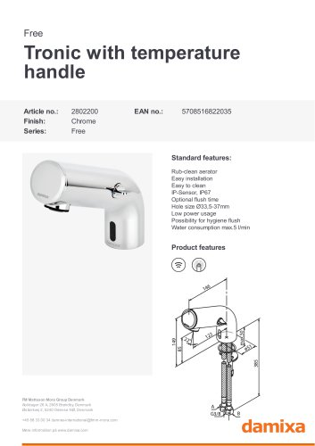 Free Tronic with temperature handle