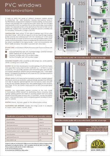 PVC WINDOWS FOR RENOVATIONS