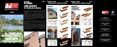 Slip Bricks for adhesive laying (IT-EN)