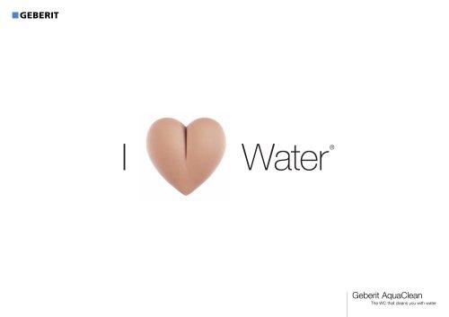 Geberit AquaClean I Love Water brochure