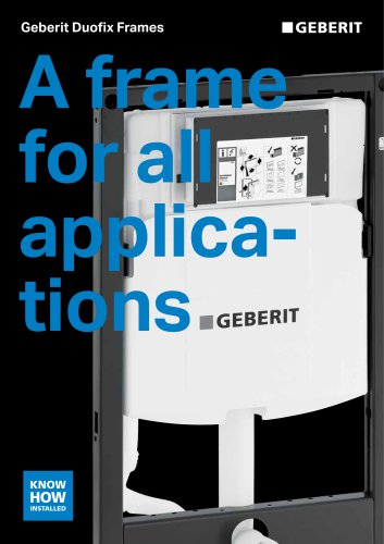 Geberit Duofix Frames