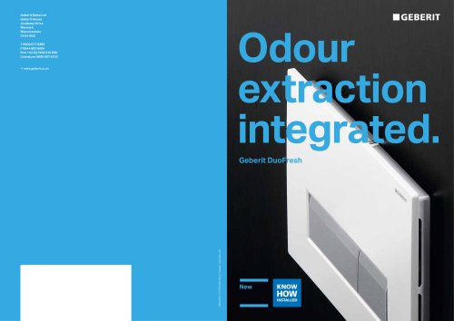 Odour Extraction Integrated Geberit DuoFresh