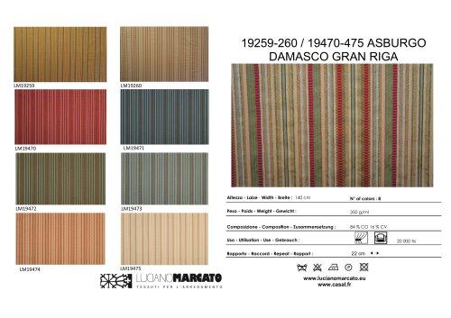 19259-260 / 19470-475 ASBURGO DAMASCO GRAN RIGA