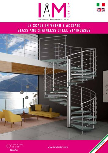 Glass and stainless steel staircases