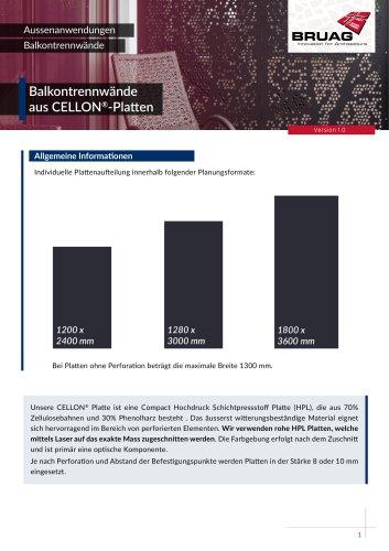 1_4 Aussenanwendungen Balkontrennwände technisches Merkblatt