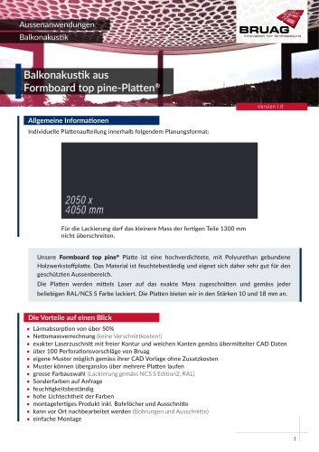 1_6 Aussenanwendungen Balkonakustik technisches Merkblatt
