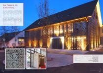 Broschüre Aussenbereichsanwendungen (Hinterlüftete Fassaden, Perforierte Fassaden, Balkonbrüstungen, Balkonakustik, Gartenanwendungen) - 11