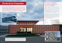 Broschüre Aussenbereichsanwendungen (Hinterlüftete Fassaden, Perforierte Fassaden, Balkonbrüstungen, Balkonakustik, Gartenanwendungen) - 9