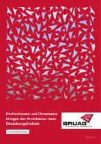 Broschüre Innenbereichsanwendungen (Perforierte Trennwände, Raumteiler, Treppengeländer, Raumakustiksysteme) - 1