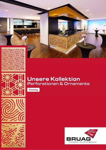 Unsere Kollektion an Perforationen und Ornamenten
