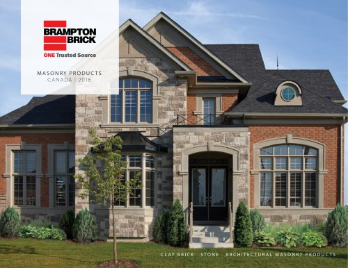 2016 Residential Masonry Products (Canada)