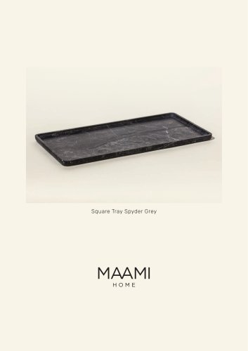 Square Tray Spyder Grey factsheet