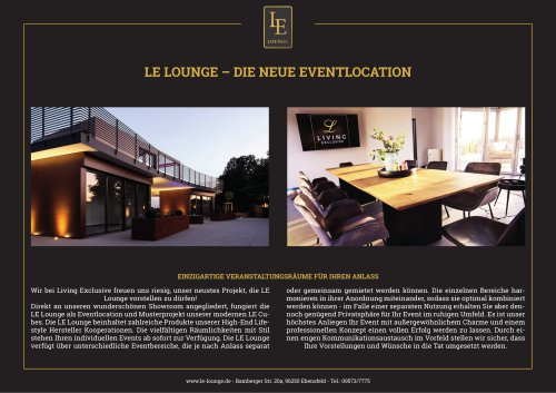 LE Lounge for Events