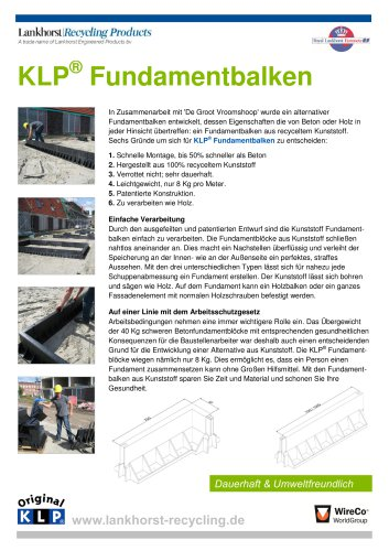 KLP® Fundamentbalken