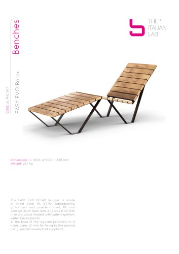 EASY EVO Relax Benches