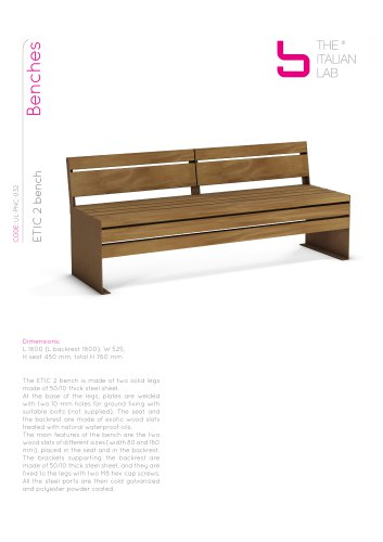 ETIC 2 bench Benches