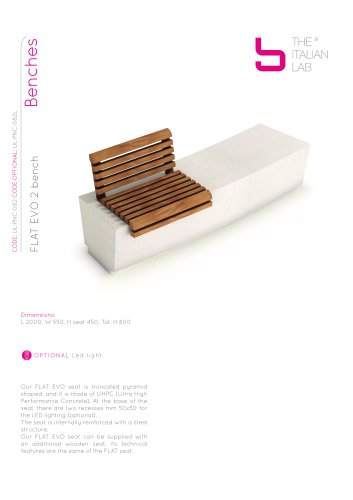 FLAT EVO 2 bench Benches