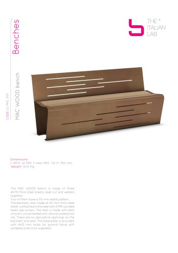 MAC WOOD bench Benches