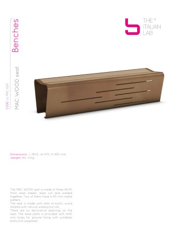 MAC WOOD seat Benches