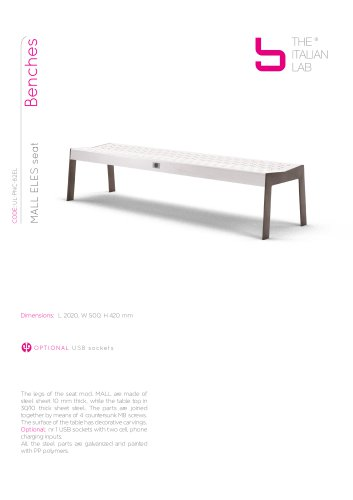 MALL ELES seat Benches