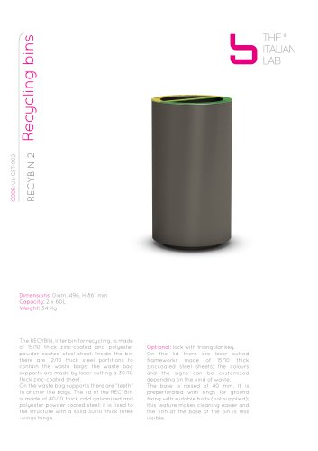 RECYBIN 2 Recycling bins