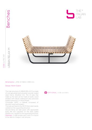 URBAN RELAX M Benches