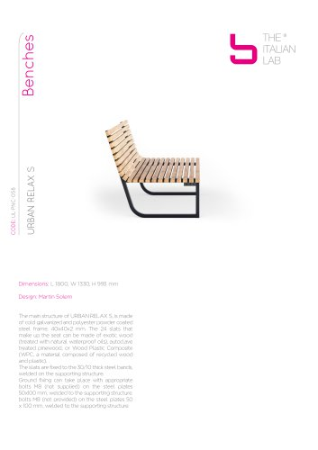 URBAN RELAX S Benches