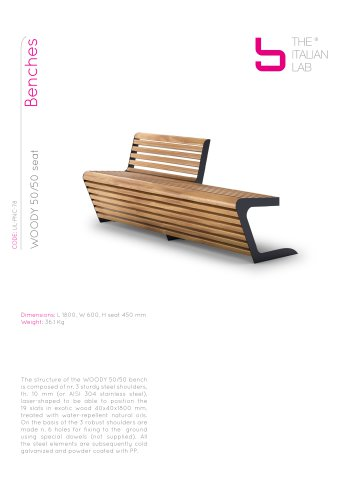 WOODY 50/50 seat Benches