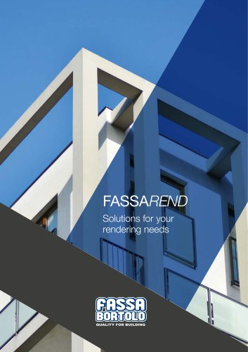 FASSAREND Solutions for your rendering needs
