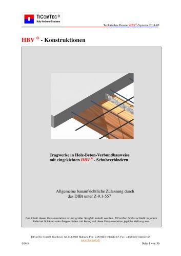 Tragwerke in Holz-Beton-Verbundbauweise mit eingeklebten HBV  - Schubverbindern