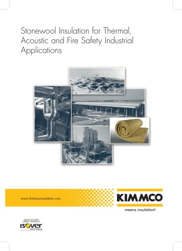 KIMMCO Stonewool Insulation for Thermal, Acoustic and Fire Safety Building Applications Catalogue