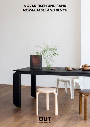 NOVAK TABLE AND BENCH