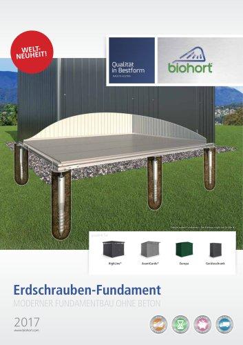 Biohort Folder Erdschrauben-Fundament