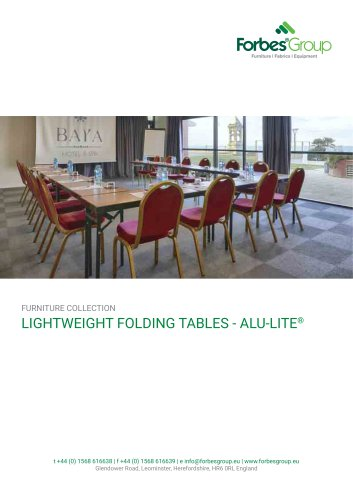 Alu-Lite Tables