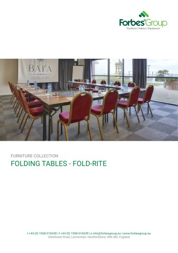 Fold-Rite Tables