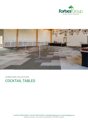 Folding Cocktail Tables & Poseur Tables