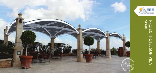 Curved photovoltaic glass canopy