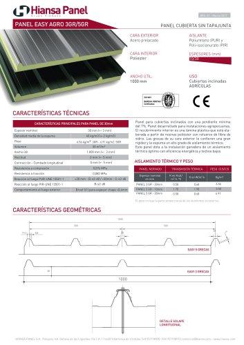 PANEL CUBIERTA EASY AGRO 3GR/5GR