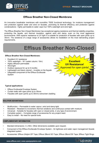 EFFISUS BREATHER NON-CLOSED