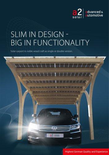Solar timber carport