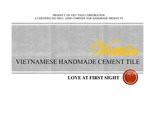 Viet Tiles - A Certified ISO 9001 Company for handmade cement tile