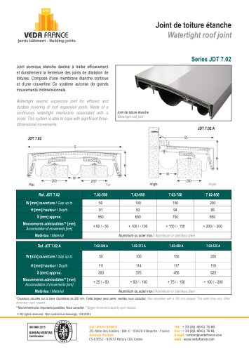 Roof expansion joint - JDT 7.02