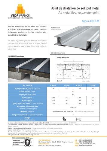 Seismic floor expansion jont - JDH 6.28