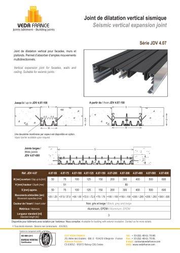 Seismic vertical expansion joint - JDV 4.07